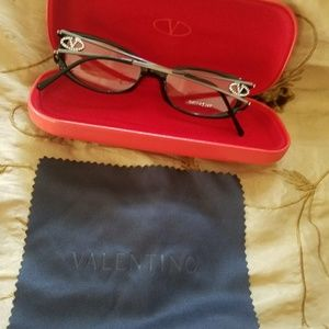 AUTHENTIC Valentino reading glasses with case